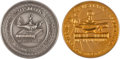 Books, American Numismatic Association. Eric P. Newman's 50th AnniversaryMembership Medal in Gold and His 25th Anniversary Membershi...