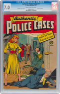 Golden Age (1938-1955):Crime, Authentic Police Cases #11 (St. John, 1951) CGC FN/VF 7.0 Cream to off-white pages....