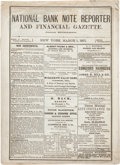 Books, June, George F. [publisher]. National Bank Note Reporter and Financial Gazette. New York, 1867-1871. Thirty-six issu...