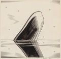Works on Paper, Rockwell Kent (American, 1882-1971). O Nature, Moby Dick or The Whale interior illustration, 1937. Ink on paper laid on ... (Total: 2 Items)