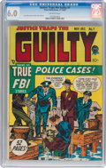 Golden Age (1938-1955):Crime, Justice Traps the Guilty #7 (Prize, 1948) CGC FN 6.0 Off-white pages....