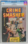 Golden Age (1938-1955):Crime, Crime Smasher #1 (Fawcett Publications, 1948) CGC VF- 7.5 Off-white pages....