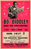 Music Memorabilia:Posters, Bo Diddley Crystal Ballroom Concert Poster (1967). Very Rare....