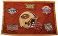 Football Collectibles:Others, Circa 1990's San Francisco 49ers Championship Banner that Flew Over Candlestick Park....