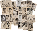 Baseball Collectibles:Photos, 1950's-80's Hall of Famers Signed Team-Issued Photographs Lot of58....