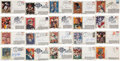 Football Collectibles:Others, 1980's Football Greats Signed First Day Covers Lot of 42....