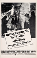 Music Memorabilia:Posters, Richard Pryor/Etta James Shubert Theatre Concert Poster (circa 1970s). Rare....
