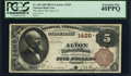 Alton, IL - $5 1882 Brown Back Fr. 469 The Alton NB Ch. # 1428 PCGS Extremely Fine 40PPQ