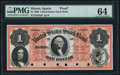 Obsoletes By State:Illinois, Sparta, IL-United States Stock Bank $1 Oct. 1, 1860 as G2a PMG Choice Uncirculated 64.. ...