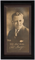 Football Collectibles:Photos, c. 1920s Red Grange Framed Premium....