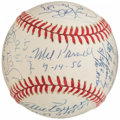 Autographs:Baseballs, No-Hitter/Perfect Game Multi-Signed, Inscribed Baseball (13 Signatures)....