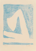 Fine Art - Work on Paper:Print, Robert Motherwell (1915-1991). Summertime in Italy (Blue),1965-66. Lithograph in colors on Arches paper. 22 x 17 inches...
