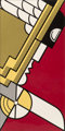 Roy Lichtenstein (1923-1997) Salute to Aviation, 1968 Screenprint in colors on smooth white wove paper 43 x 21-5/8 in...