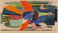 Fine Art - Work on Paper:Print, Georges Braque (1882-1963). L'oiseau multicolore, c. 1950.Aquatint in colors on Rives paper. 10-3/8 x 19-1/8 inches (26...