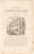 Books, Hutchings & Co., J.M. [publisher]. Hutchings' CaliforniaMagazine. ...