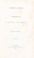 Books, Breck, Samuel. Historical Sketch of Continental Paper Money....