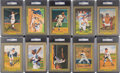 Baseball Collectibles:Others, 1985-97 Perez Steele Great Moments Signed Postcards Lot of 69 All Graded PSA/DNA Mint 9 or Gem Mint 10. ...