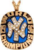 Baseball Collectibles:Others, 1996 New York Yankees World Series Championship Pendant....