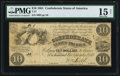Confederate Notes:1861 Issues, T27 $10 1861 PF-2 Cr. 222 PMG Choice Fine 15 Net.. ...