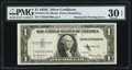 Error Notes:Obstruction Errors, Obstructed Printing Error Fr. 1614 $1 1935E Silver Certificate. PMGVery Fine 30 EPQ.. ...