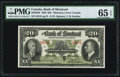 Canadian Currency, Canada Bank of Montreal $20 Jan. 3, 1938 Ch # 505-62-06.. ...