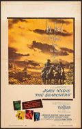 "Movie Posters:Western, The Searchers (Warner Brothers, 1956). Window Card (14"" X 22"").Western.. ..."