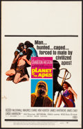 """Movie Posters:Science Fiction, Planet of the Apes (20th Century Fox, 1968). Window Card (14"""" X 22""""). Science Fiction.. ..."""