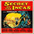 "Movie Posters:Adventure, Secret of the Incas (Paramount, 1954). Six Sheet (79"" X 79""). Adventure.. ..."