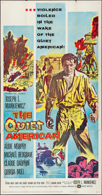 "The Quiet American (United Artists, 1958). Three Sheet (41"" X 79""). Thriller"