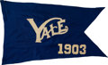 Football Collectibles:Others, 1903 Yale Bulldogs Pennant....