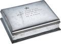 Baseball Collectibles:Others, 1951 All-Star Game Sterling Silver Box Presented to Joe DiMaggio....