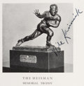 Football Collectibles:Uniforms, 1939 Heisman Memorial Trophy Award Presentation Program Signed by Nile Kinnick.. ...