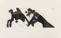 Prints & Multiples, Robert Motherwell (1915-1991). Dance I, 1979. Lift-ground etching and aquatint on TH Saunders paper. 9-7/8 x 23-3/4 inch...