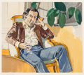 Fine Art - Work on Paper:Print, Alice Neel (1900-1984). The Accountant (Martin), 1981.Lithograph in colors on Arches paper. 22 x 25-1/2 inches (55.9 x...