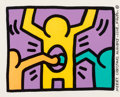 Prints & Multiples, Keith Haring (1958-1990). Untitled, from Pop Shop I, 1987. Screenprint in colors on wove paper. 10-1/2 x 13-1/2 inch...