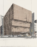 Fine Art - Work on Paper:Print, Christo (b. 1935). Whitney Museum of American Art, Packed,Project for New York, from (Some) Not Realized Projects,...