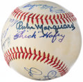 Autographs:Baseballs, 1971-72 Hall of Fame Multi-Signed Baseball with Dave Bancroft and Chick Hafey....