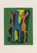 Prints & Multiples, Marino Marini (1901-1980). Pl. I-V, from Marino from Goethe (four works), 1979. Etchings with aquatint in colors on ... (Total: 5 Items)