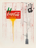 Fine Art - Work on Paper:Print, Jasper Johns (b. 1930). Untitled (Coca-Cola and Grid), 1971. Lithograph in colors on Arches paper. 38-7/8 x 29-1/4 inche...