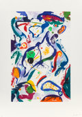 Prints & Multiples, Sam Francis (1923-1994). Untitled (SFE-110), 1994. Aquatint in colors on paper. 35-7/8 x 23-3/4 inches (91.1 x 60.3 cm) ...