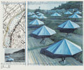 Prints & Multiples, Christo (b. 1935). The Umbrellas (Joint Project for Japan and USA), 1991. Offset lithograph in colors on light cardboard...