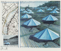 Christo (b. 1935) The Umbrellas (Joint project for Japan and USA), 1991 Offset lithograph in colors