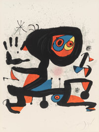 Joan Miró (1893-1983) Poster for UNESCO, Human Rights, 1974 Lithograph in colors on wove paper 31