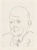 Fine Art - Work on Paper:Print, Pablo Picasso (1881-1973). Portrait de Vollard III, fromLa Suite Vollard, 1937. Etching on Montval laid paper.13-5...