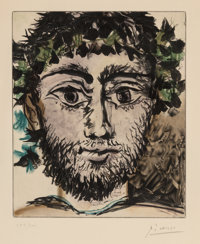 After Pablo Picasso Tête de Faune, c. 1955 Soft-ground etching and aquatint in colors on paper 1