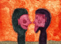 Rufino Tamayo (1899-1991) Dos Cabezas, from Serie de 15 aguafuertes, 1975 Aquatints with