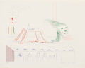 Fine Art - Work on Paper:Print, David Hockney (b. 1937). A Moving Still Life, from TheBlue Guitar, 1976-77. Soft ground etching with aquatint inco...