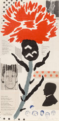 Fine Art - Work on Paper:Print, Donald Baechler (b. 1956). Thistle, 1999. Lithograph in colors on wove paper. 43-5/8 x 21-3/4 inches (110.8 x 55.2 cm) (...