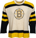 Hockey Collectibles:Uniforms, 1955-57 Game Worn Boston Bruins Jersey....