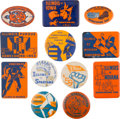Football Collectibles:Others, 1947-2000's University of Illinois Homecoming and Souvenir Pinback Buttons Lot of 45+....